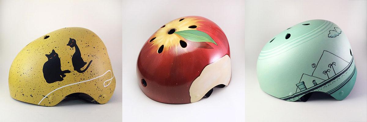 Empresa cria capacetes personalizados pintados à mão