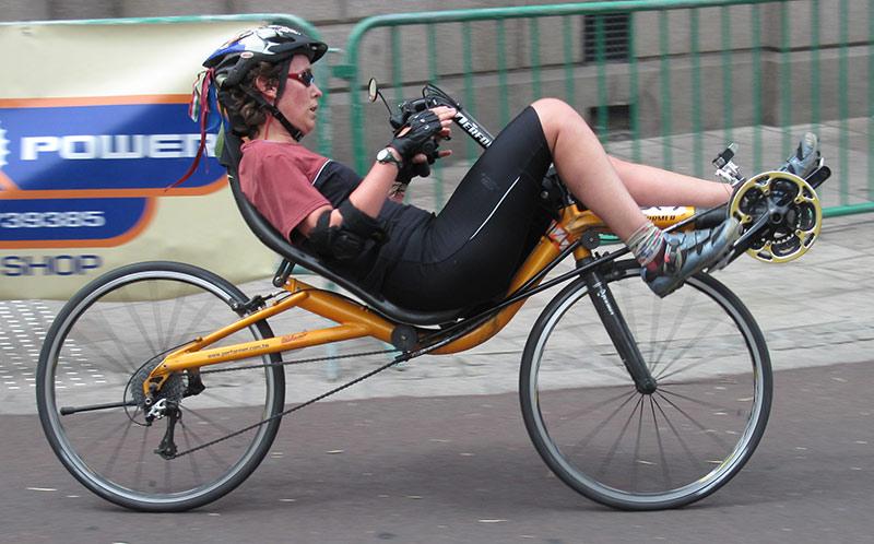 tipos de bicicleta - reclinada