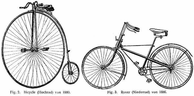 """High Wheel e """"bicicleta segura"""""""