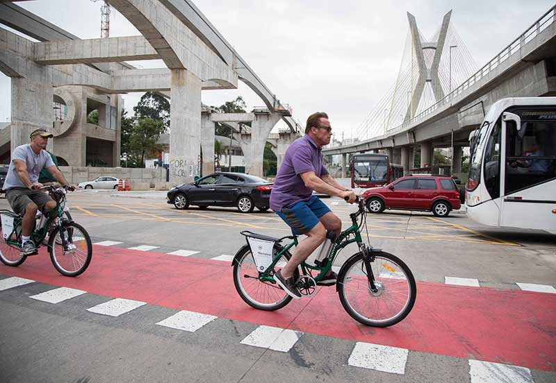 Schwarzenegger em São Paulo