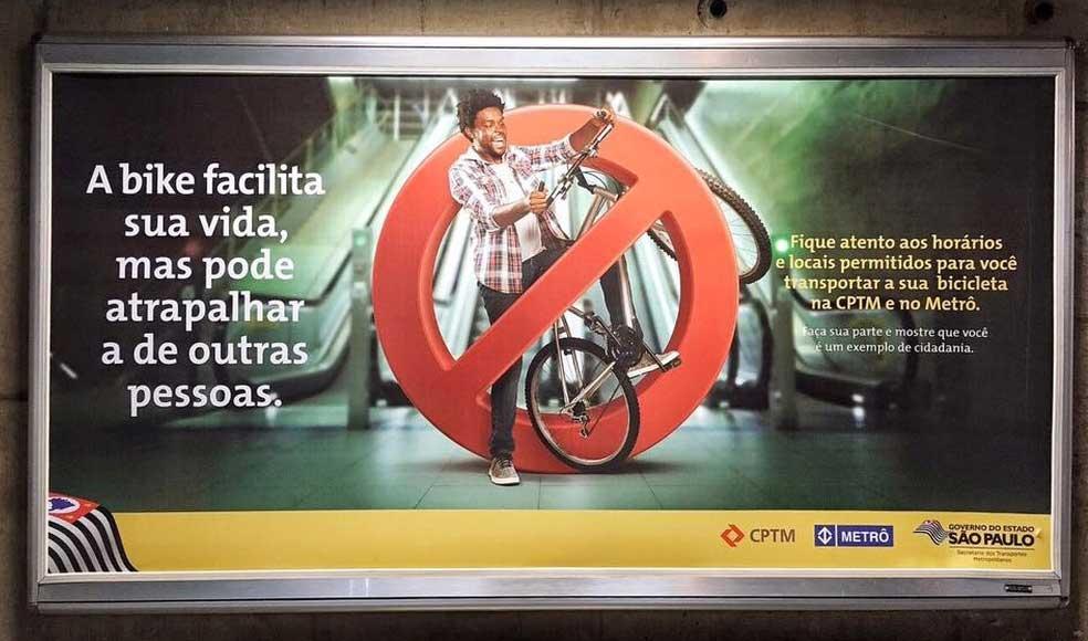Campanha no metrô de SP