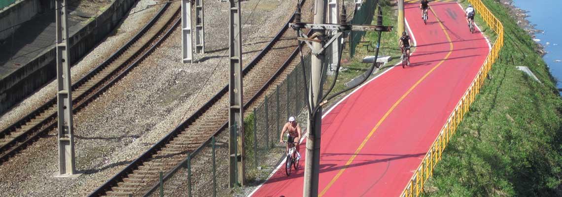Com a chegada do outono, horários da ciclovia do Rio Pinheiros são reduzidos