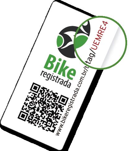 Selo Bike Registrada com QR code e url