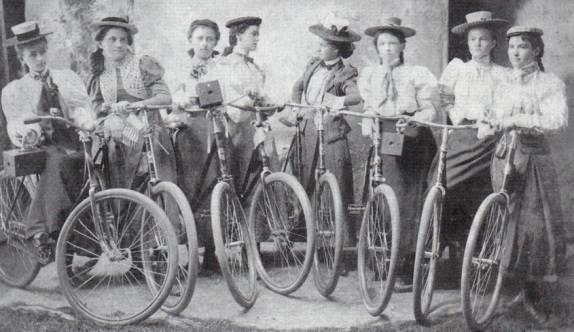 Surgimento da bicicleta para mulheres