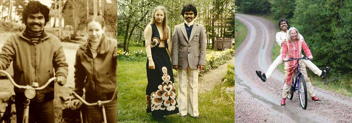 Em busca do amor, ele foi da Índia à Suécia com sua bike