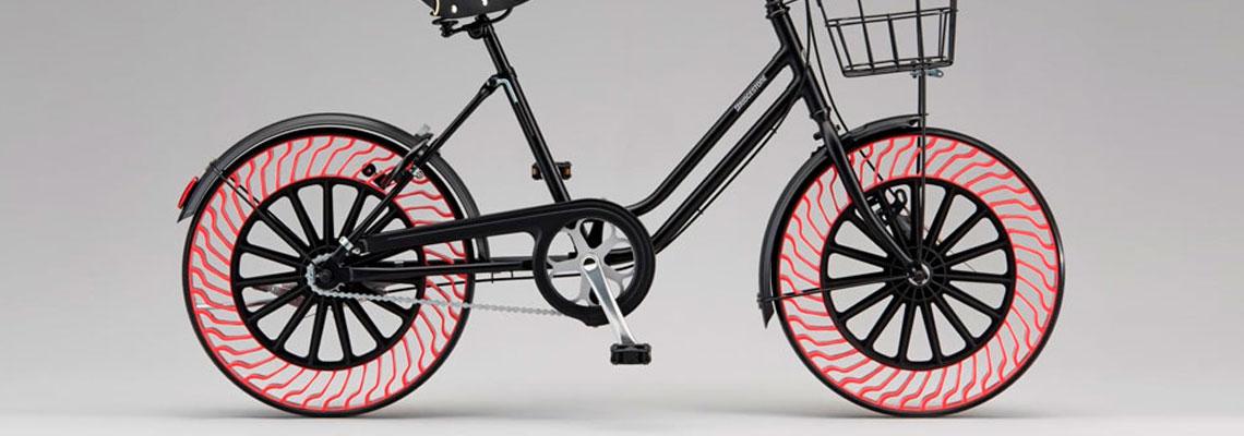 Novo pneu sem ar da Bridgestone é testado em bicicletas