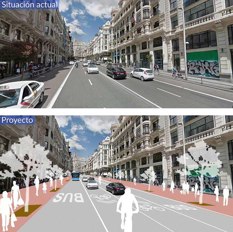 Principal avenida de Madrid terá reforma por mais bikes e menos carros