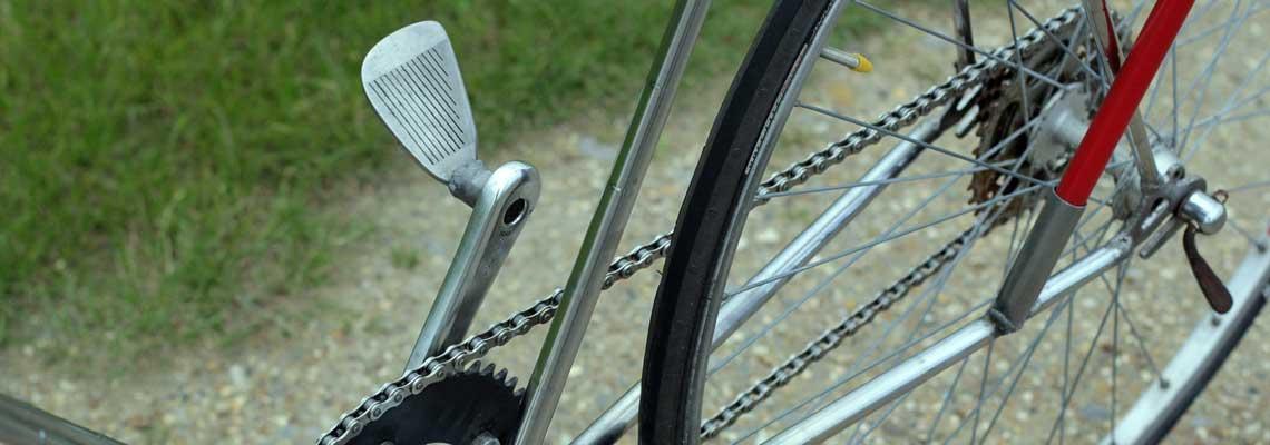 Tacos de golfe viram bicicletas na Inglaterra