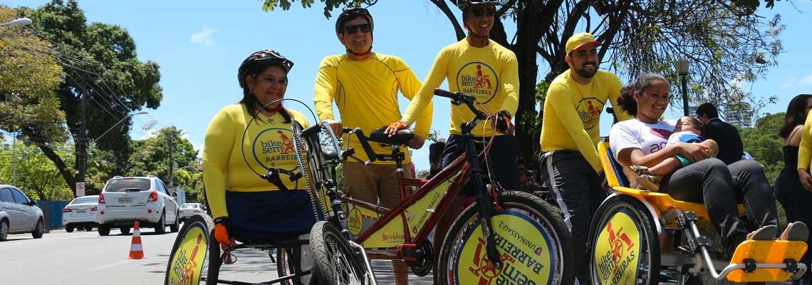 No Recife, projeto leva bikes especiais para pessoas com deficiência