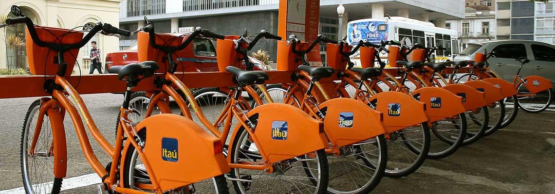 Uso de bikes compartilhadas quase dobra em Porto Alegre
